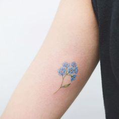 9a8ce2e3d9e5f forget me nots are the Alaska state flower. See more. Found on Google from  subtletattoos.com Dad Tattoos, Body Art Tattoos, Cousin Tattoos