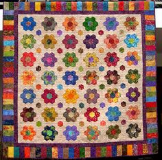 Batik Hexagon Quilt