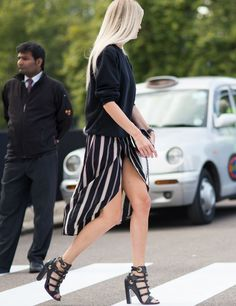 Skirt Alert in London. #trend #graphic #style #fashion