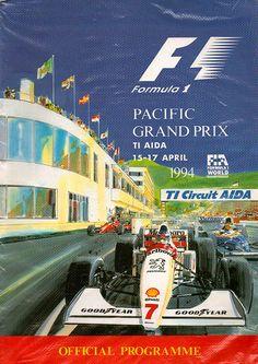 1994-04-17 · Pacific Grand Prix · Aida   formula 1 event artwork · formula 1 programme cover · formula 1 poster · carsten riede Australian Grand Prix, British Grand Prix, Japanese Grand Prix, Racing Events, Vintage Racing, World Championship, Formula One, Monte Carlo, F1