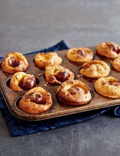 Mini chorizo toad in the holes - http://sainsburysmagazine.co.uk/recipes/party/finger-food/item/mini-chorizo-toad-in-the-holes