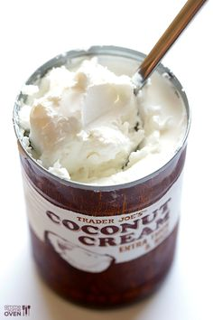 How To Make Coconut Whipped Cream -- grab a can of coconut milk and join the party! | gimmesomeoven.com #vegan #diy