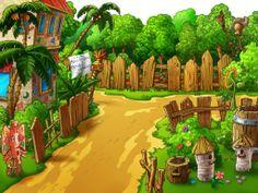 "Photo from album ""Детские фоны"" on Yandex. Orla Infantil, Animal Pictures For Kids, Beautiful Landscape Paintings, Orlando, Zen Design, Landscape Background, Cartoon Background, Tree Art, Clipart"