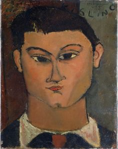 Amadeo Modigliani (1884 – 1920) Portrait of the Painter Moisè Kisling, 1915. Oil on canvas. 37 x 29 cm. Pinacoteca di Brera, Milan. 5037