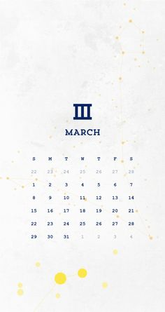 Simplicity. Tap to see more 2015 March Calendar Wallpapers for iPhone. - @mobile9 #calendar #wallpaper #march