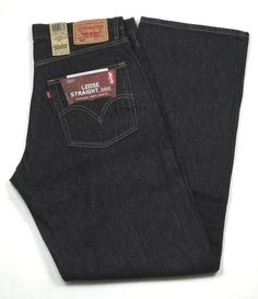 """Mens Levis Loose Straight 569 Special Dye Finish Black Size 34"""" x 34"""" New #Levis #LooseStraight"""