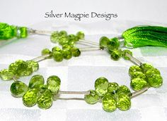 CHRISTMAS SALE 25 Off Green Peridot Micro by SilverMagpieDesigns2, $7.99