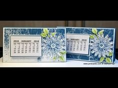 - 2018 Calendar Swaps for OnStage - Stampin Up! These are the 2018 Calendars I made as my swaps for the Stampin Up! OnStage Convention in November Great teachers gifts or to sell at craft shows - theyre so easy to make! Handmade Desks, Sunflower Cards, Card Making Templates, Calendar Ideas, Calendar Templates, Easel Cards, Desk Calendars, Shaker Cards, Christmas Cards