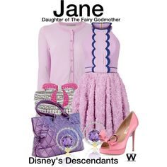 Inspired by Brenna D'Amico as Jane, Daughter of the Fairy Godmother, in the upcoming 2015 TV movie Descendants.