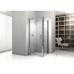 Porte de douche pivotante 78/84 cm profilé chromé, Elyt