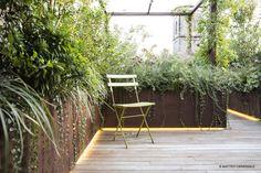 LA STANZA FIORITA Green Terrace, Terrace Garden, Garden Bridge, Landscape Architecture, Landscape Design, Outdoor Living Rooms, Contemporary Garden, Terrazzo, Go Green