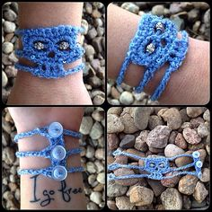 Crocheted skull bracelet                                                       …