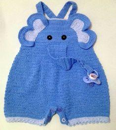 Diy Crafts - 66 Ideas Crochet Baby Boy Romper Overalls For 2019 Crochet For Boys, Free Crochet, Knit Crochet, Knitted Baby, Baby Knitting Patterns, Baby Patterns, Crochet Patterns, Baby Jumpsuit, Baby Boy Romper