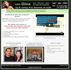 Hair Salon and Day Spa Websites - http://www.salondivawarrenton.com -- Herbst Marketing developed this WordPress website and video for Salon Diva in Warrenton, Virginia.  For more information, visit http://www.herbstmarketing.com