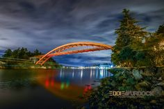 Miss my home town.....The Rainbow Bridge at night in La Conner Wa