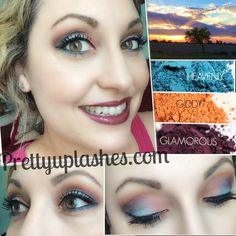 """""""Heavenly Sunset"""" presented by Pretty Up Lashes. Younique pigments in giddy, glamorous and heavenly. Finished the look with 3d fiber lashes. Available at prettyuplashes.com"""