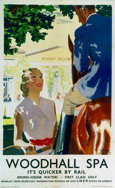 GBP - Vintage Woodhall Spa Lincolnshire Lner Railway Travel Poster Re-Print Spa Art, Tennis Posters, Railway Posters, Posters Uk, British Travel, National Railway Museum, Fine Art Prints, Canvas Prints, Spa Water