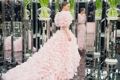 Lily Rose Depp as the bride at Chanel haute couture s/s 2017, photographed by Janna Tatarova