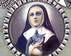 Patron Saint of Cats St. Gertrude of Nivelles by LilianaAngel