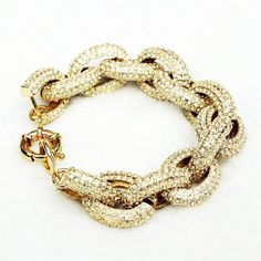 New Year pave link rhinestone bracelet,gold plated fill jewelry fashion and party jewelry 2013 jewelry last minute... $58.50 (55% OFF)