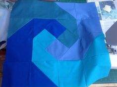 First block (#5) for Nautical But Nice quilt from issue 36 of LP&Q mag - 11.8.16