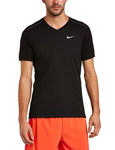 Nike - Camiseta negra con cuello de pico #camiseta #realidadaumentada #ideas #regalo