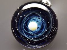 """Spectacular """"Space Glass"""" Pendants Let You Hold the Cosmos in the Palm of Your Hand - My Modern Met"""