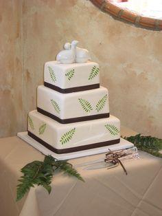 Swan Layered Cake
