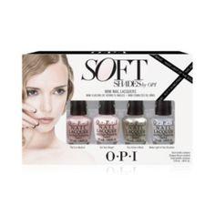 OPI Soft Shades Mini Pack 4 pcs fl oz Brand: OPInew 4 pc mini fl oz each Opi Colors, Nail Polish Sets, How To Make Light, Neutral, Shades, Beige, Nails, Mini, Walmart