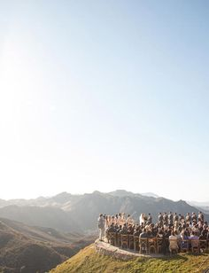 Such a stunning view of Malibu at this California wedding ceremony using Archive Rentals chairs!