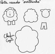 Nosso Espaço Educando: Páscoa - atividades com ovelhinha (corte, cole e monte)