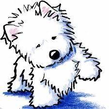 Image result for west highland white terrier dibujo