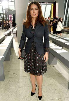 Look office formal salma-hayek-look-saia-blazer