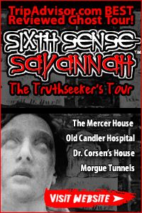 Sixth Sense Savannah. Take the 9:30 pm tour with Nicholas. He was such a great storyteller!