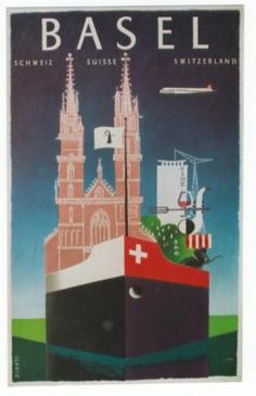 Original Vintage Poster Basel Rhine SHIP Piatti 1957   eBay Travel Ads, Airline Travel, Travel And Tourism, Vintage Travel Posters, Vintage Ads, Fürstentum Liechtenstein, Switzerland Tourism, Tourism Poster, Retro Poster