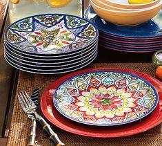 Talavera Melamine Salad Plates, Set of 4 #potterybarn, $28