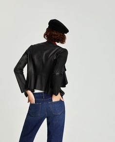 FAUX LEATHER JACKET WITH CONTRASTING LAPELS-JACKETS-WOMAN-SALE | ZARA United States