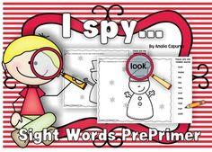 I spy..Sight Words Pre-Primer list