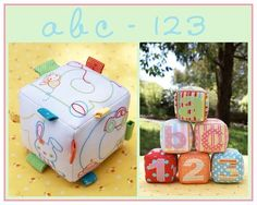 ABC-123 blocks to embroider and sew
