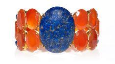 Carnelian and lapis lazuli bracelet: Orange Palette, Lapis Lazuli Bracelet, Up For The Challenge, Orange Sky, Color Shades, One Color, Cobalt Blue, Color Combos, Color Boards