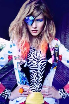 'The New Day' Editorial in Dew Magazine Fall 2012 is Electic & Colorful #hair #coloredhair trendhunter.com