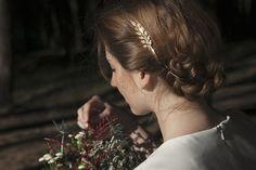 Tocado para novia - accesorios de novia - bodas - hecho a mano en DaWanda.es