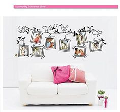 Chanasya Fun Kids and All Ages Peel and Stick Wall Art Decals: Beautiful Picture Framed Decal with Birds Flying Around - Chanasya, a Purchase Corner LLC
