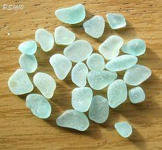 $15.95 ~ TAPESTRY ~ Craft Grade Turquoise Sea Glass - Beach Glass - Art by OdysseySeaGlass