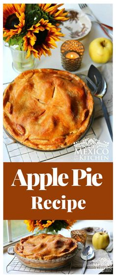 Apple pie recipe │It is a recipe that was inherited from the Mennonite missionaries that arrived in that state during colonial times, and has been enjoyed for many years throughout Mexico, Authentic Mexican Desserts, Real Mexican Food, Mexican Dessert Recipes, Breakfast Recipes, Savoury Pastry Recipe, Pastry Recipes, Apple Pie Recipes, Tart Recipes, Colonial Recipe