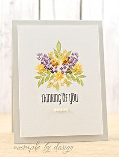 From Simple By Design : Watercolour use of WPlus9 Fresh Cut Florals.