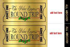 Polar EXpress ticket add text sm
