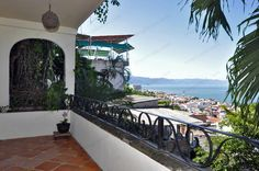 Vista al Mar  #PuertoVallarta #RealEstate #Condominium Enjoy the sunset and the view from this beautiful and amazing condo in Puerto Vallarta, Condo Casa Azul has an excellent location, just 4 blocks from the beach.