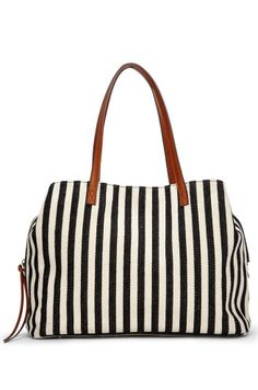 Travel, beach, trips - I love it! Sole Society Millie Printed Oversize Tote - Black White Stripe-One Size How To Have Style, Best Diaper Bag, Look Plus, Cute Bags, Black White Stripes, Beautiful Bags, Purses And Bags, Fashion Accessories, Shoe Bag