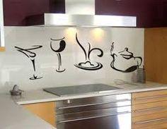 decoração com adesivos de parede para cozinha - Pesquisa Google
